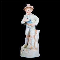A porcelain boy vase.