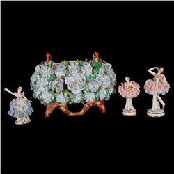 Vase and three ballerinas.