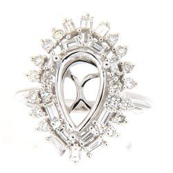 1.07 CTW Diamond Semi Mount Ring 14K White Gold - REF-116N5Y