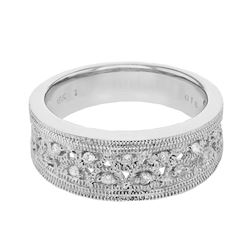 0.18 CTW Diamond Ring 18K White Gold - REF-74R5K