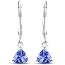 1.18 ctw Tanzanite Earrings 14K White Gold - REF-29F8W