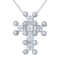 0.99 CTW Diamond Pendant 14K White Gold - REF-108Y8X