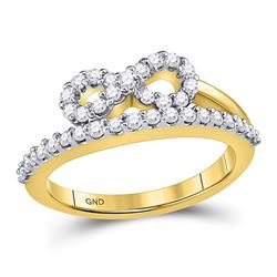 Diamond Woven Infinity Band Ring 1/2 Cttw 10kt Yellow Gold