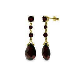 Genuine 13.2 ctw Garnet Earrings 14KT Yellow Gold - REF-39Z3N