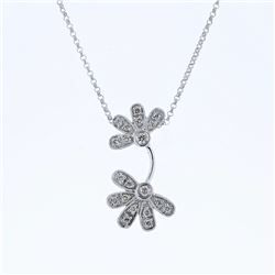 0.28 CTW Diamond Necklace 14K White Gold - REF-26F7N