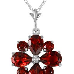 Genuine 2.43 ctw Garnet Necklace 14KT White Gold - REF-29Z7N