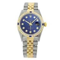 Rolex Pre-owned 36mm Mens Blue Two Tone - REF-610X4K