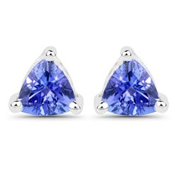 0.64 ctw Tanzanite Earrings 14K White Gold - REF-16Y6N