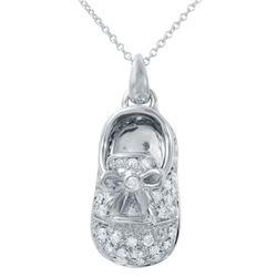 0.92 CTW Diamond Necklace 14K White Gold - REF-90H3M