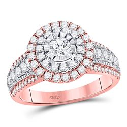 Diamond Solitaire Bridal Wedding Engagement Ring 1-1/4 Cttw 14kt Rose Gold
