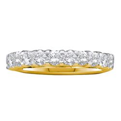 Machine Set Diamond Wedding Band 1.00 Cttw 14kt Yellow Gold