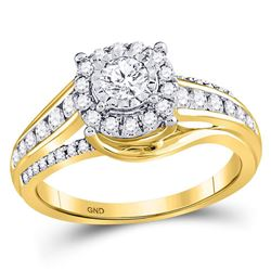Diamond Solitaire Bridal Wedding Engagement Ring 3/4 Cttw 14kt Yellow Gold