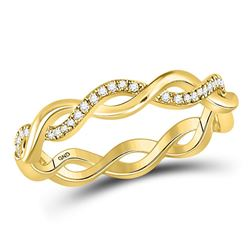 Diamond Fashion Braided Band Ring 1/10 Cttw 10kt Yellow Gold