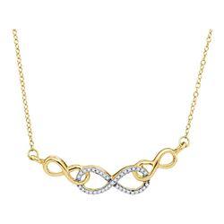 Diamond Infinity Pendant Necklace 1/5 Cttw 10kt Yellow Gold