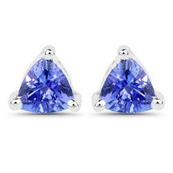 0.64 ctw Tanzanite Earrings 14K White Gold - REF-16Y6N