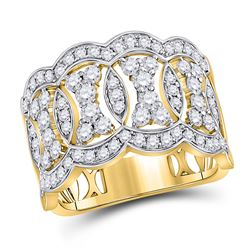 Diamond Right Hand Band Ring 1-1/3 Cttw 14kt Yellow Gold