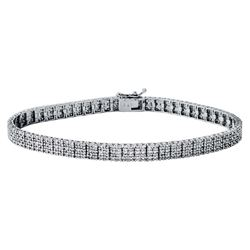 17.89 CTW Baguette Bracelet 18K White Gold - REF-1718X2R