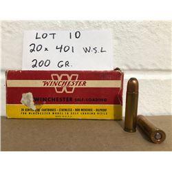 AMMO: 20 X 401 W.S.L. 200 GR