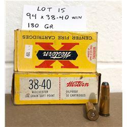 AMMO: 94 X .38-40 180 GR
