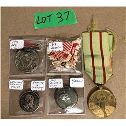 GR OF 4 FOREIGN MILITARY MEDALS