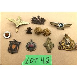 GR OF 10 MISC PINS