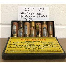 AMMO: WINCHESTER SALESMEN SAMPLE BOX