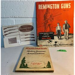 GR OF 3, VINTAGE REMINGTON GUN CATALOGS