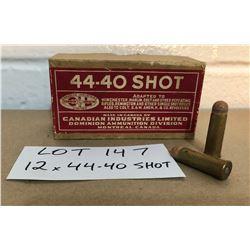 AMMO:  12 X .44-40 SHOT