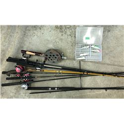 FISHING ROD & LURES LOT
