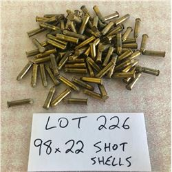 AMMO: 98 X .22 SHOT SHELLS