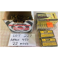 AMMO: APPROX 450 X .22