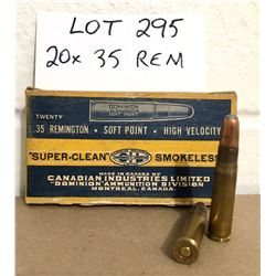 AMMO: 20 X .35 REM IN VINTAGE CIL BOX