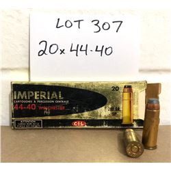 AMMO: 20 X .44 - 40 IN VINTAGE IMPERIAL BOX