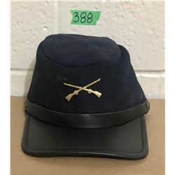 LEATHER CALVARY CAP - ONE SZ FIT ALL