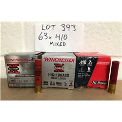 AMMO: 63 X 410 GA MIXED SHOT