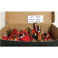 AMMO: APPROX 100 X 12 GA MIXED SHOT
