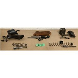 QTY MISC HAND GUN PARTS