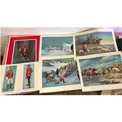 RCMP PORTFOLIO OF LITHOGRAPHS - 6 X