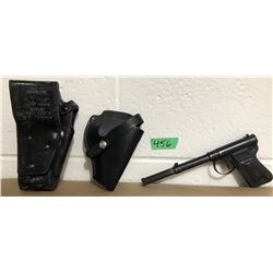 LIMIT SPRING LOAD PETTET GUN W / 2 X LEATHER HOLSTERS
