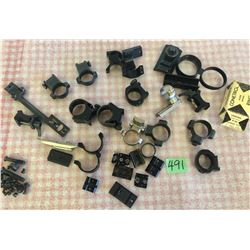 MISC COLLECTION OF SCOPE RINGS & MOUNTS