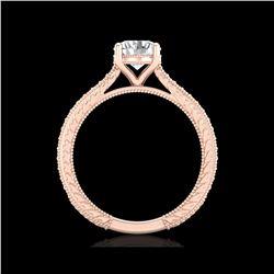 1.45 ctw VS/SI Diamond Solitaire Art Deco Ring 18K Rose Gold