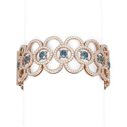 20 ctw Diamond Bracelet 18K Rose Gold