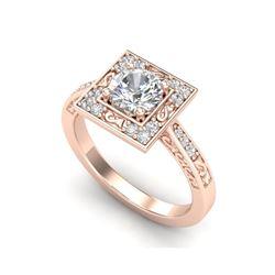 1.1 ctw VS/SI Diamond Art Deco Ring 18K Rose Gold