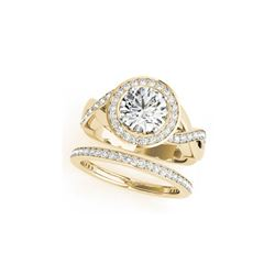 2.34 ctw Certified VS/SI Diamond 2pc Wedding Set Halo 14K Yellow Gold