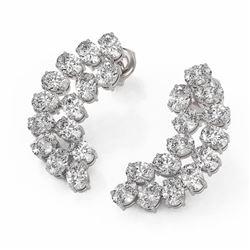 6 ctw Oval Cut Diamond Designer Earrings 18K White Gold