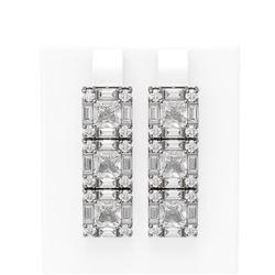 8.79 ctw Diamond Earrings 18K White Gold