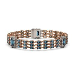 27.1 ctw London Topaz & Diamond Bracelet 14K Rose Gold