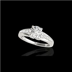 1.40 ctw Certified Diamond Solitaire Ring 10K White Gold