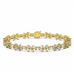 13 ctw Emerald Cut and Marquise Diamond Bracelet 18K Yellow Gold