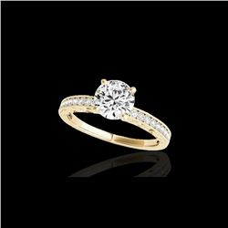 1.18 ctw Certified Diamond Solitaire Antique Ring 10K Yellow Gold